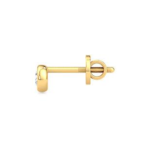 bezel-diamond-stud-earrings-one-yellow-gold-small