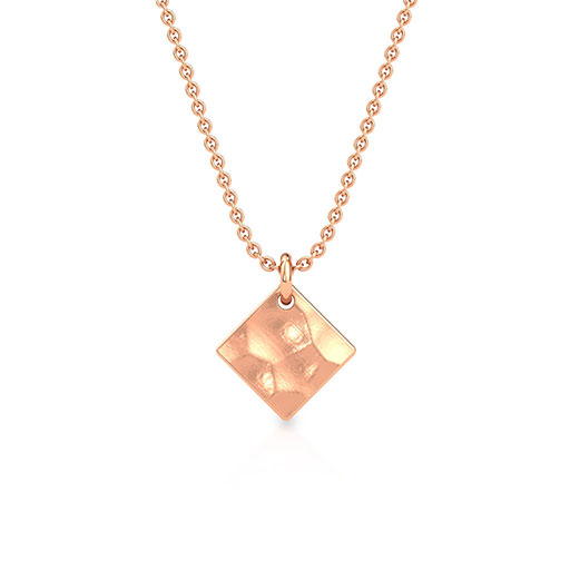 hammered-kite-pendant-rose-gold-medium