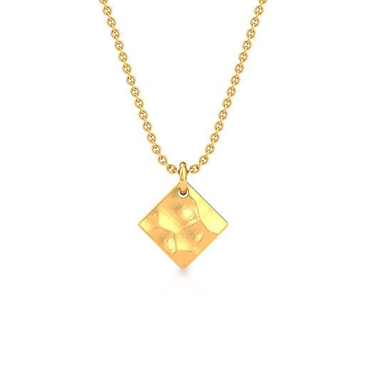 hammered-kite-pendant-yellow-gold-medium