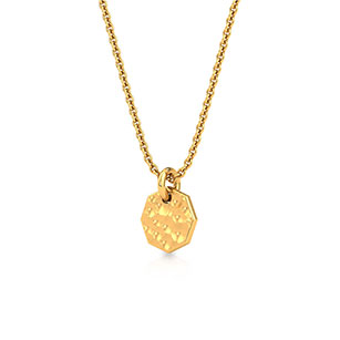 hammered-plate-pendant-one-yellow-gold-small