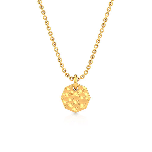hammered-plate-pendant-yellow-gold-medium