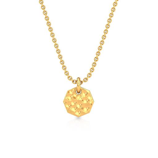 hammered-plate-pendant-yellow-gold-medium