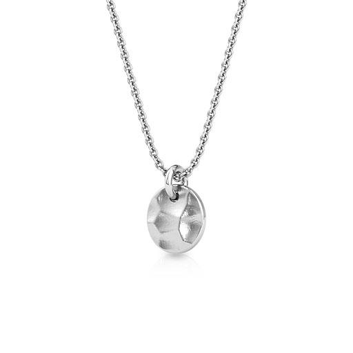 hammered-sphere-pendant-one-white-gold-medium