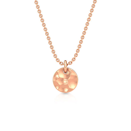 hammered-sphere-pendant-rose-gold-medium
