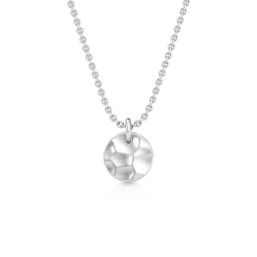 hammered-sphere-pendant-white-gold-medium