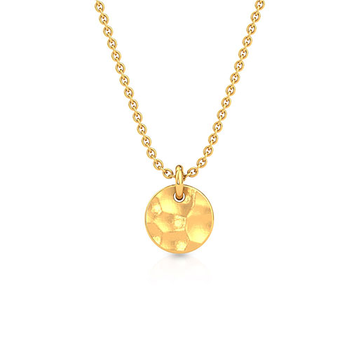 hammered-sphere-pendant-yellow-gold-medium